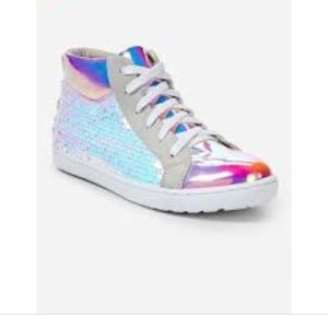 Justice Holo Sequin High Tops Sz4 🧜🏼♀️sequins
